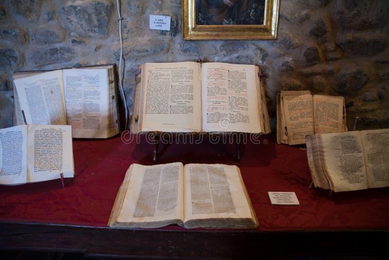 Ansicht von alten Büchern lizenzfreie stockfotos