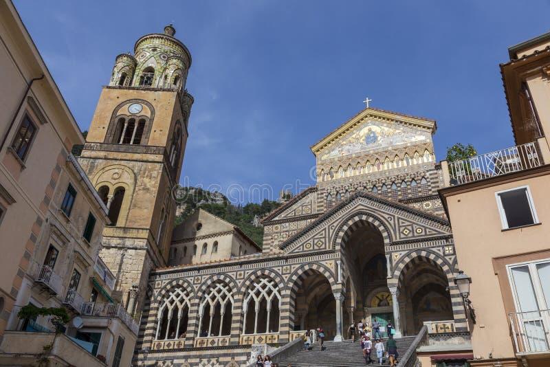 Ansicht von Amalfi-Kathedrale lizenzfreies stockfoto