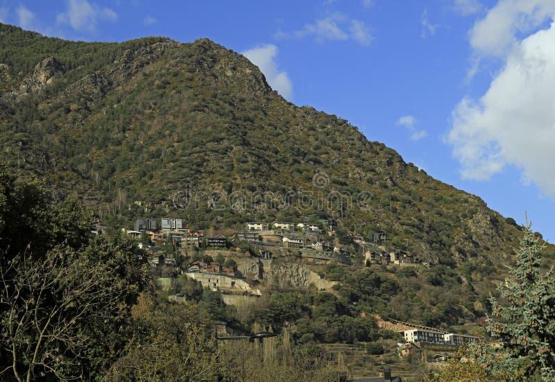Ansicht von Andorra-La Vella stockbild