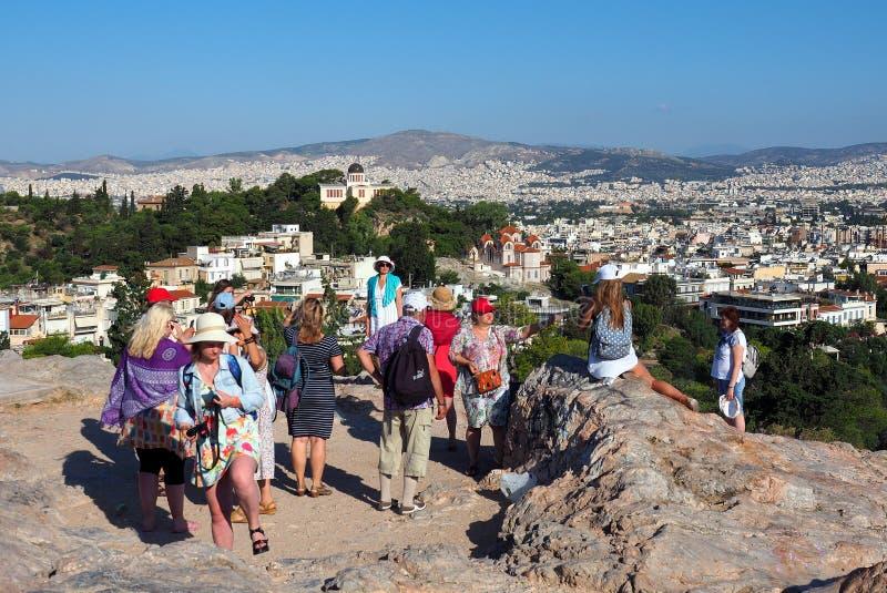 Ansicht von Athen-Skylinen, Griechenland stockfotos