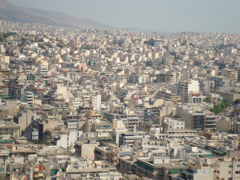 Ansicht von Athen von der Montierung Lycabettus stockbild