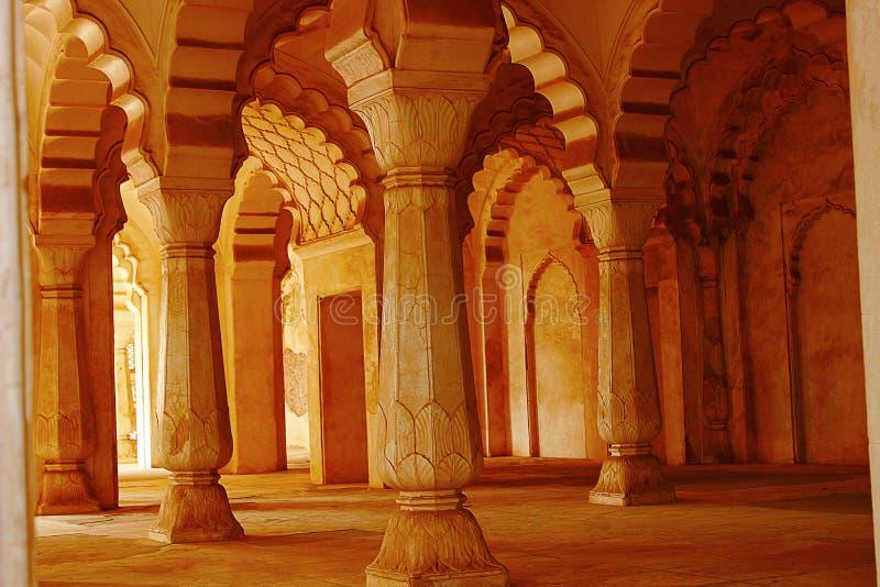 Ansicht von Bögen in der Galerie, Bibi-Ka-Maqbara, Aurangabad, Maharashtra stockbild