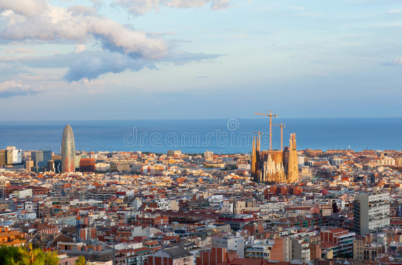 Ansicht von Barcelona lizenzfreies stockbild