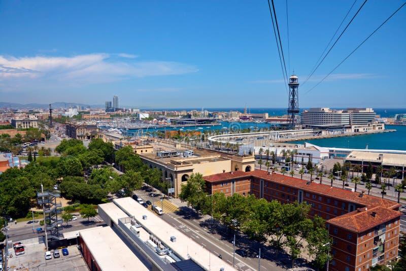 Ansicht von Barcelona von oben lizenzfreie stockfotos