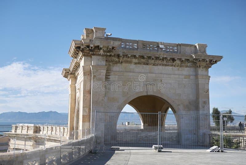 Ansicht von Bastione San Remy lizenzfreie stockbilder