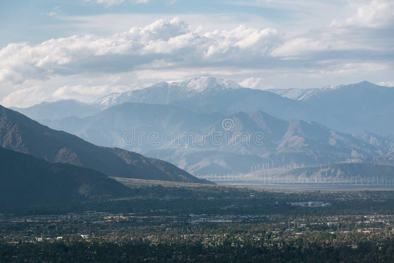 Ansicht von Bergen im Palm Springs, Kalifornien stockbild