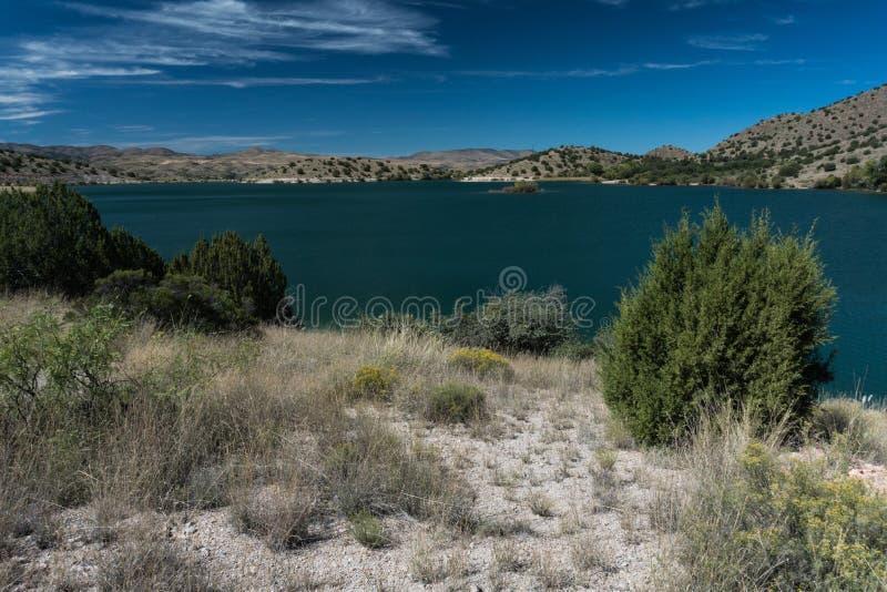 Ansicht von Bill Evans Lake im New Mexiko lizenzfreie stockbilder