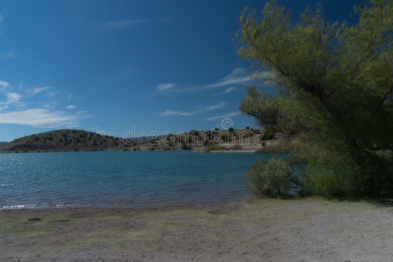 Ansicht von Bill Evans Lake nahe silberner Stadt im New Mexiko lizenzfreies stockfoto