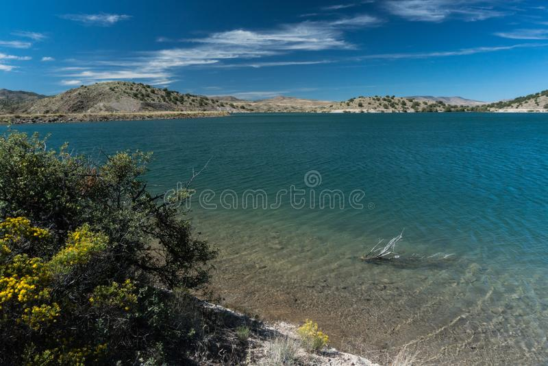 Ansicht von Bill Evans Lake nahe silberner Stadt, New Mexiko stockbild