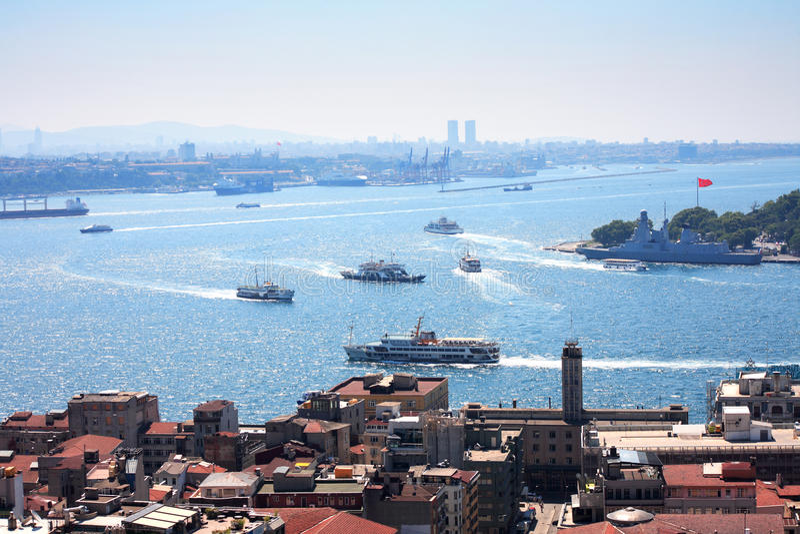 Ansicht von Bosporus lizenzfreie stockfotografie