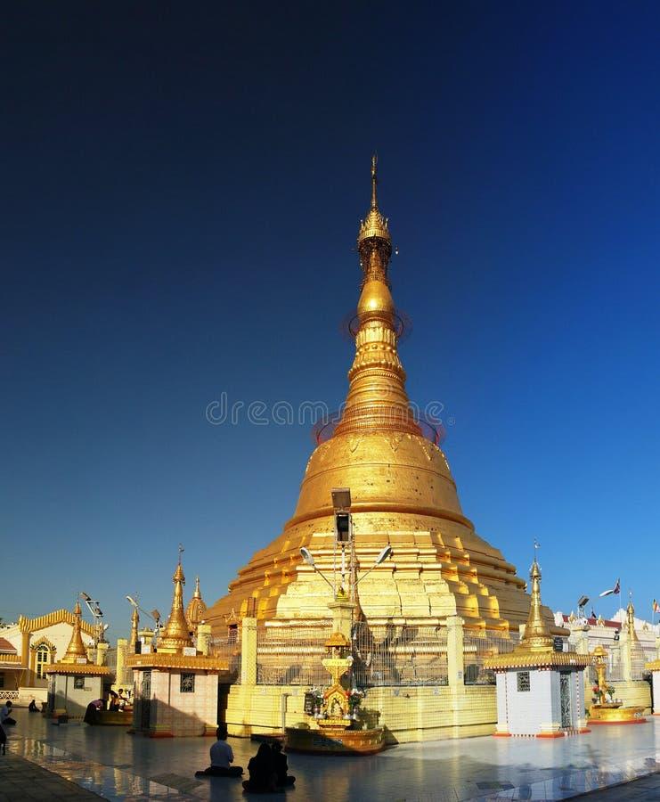Ansicht von Botathaungs-Pagode stockbild