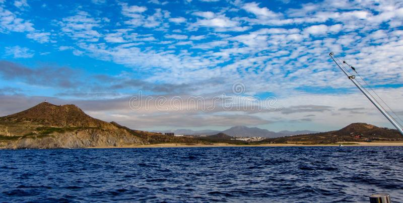 Ansicht von Cabo San Lucas Lighthouse stockfotos