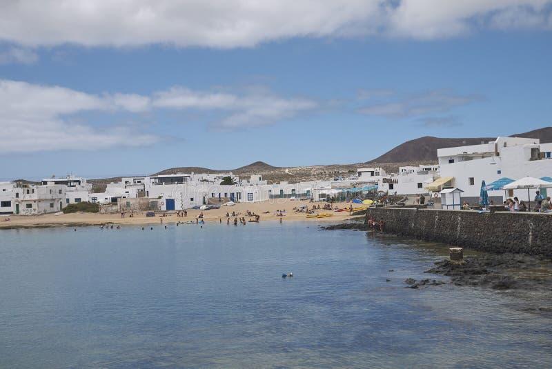 Ansicht von Caleta Del Sebo stockfoto