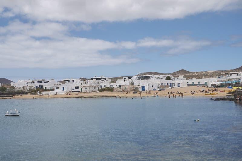 Ansicht von Caleta Del Sebo lizenzfreies stockfoto