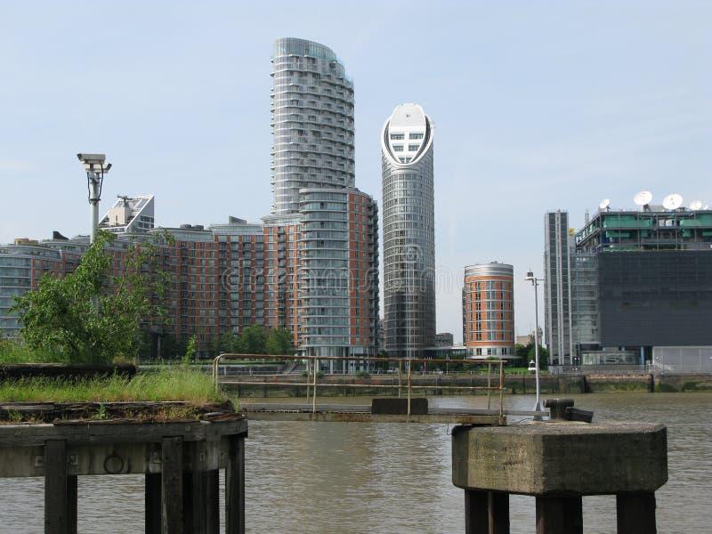 Ansicht von Canary Wharf, London, Großbritannien lizenzfreie stockfotografie