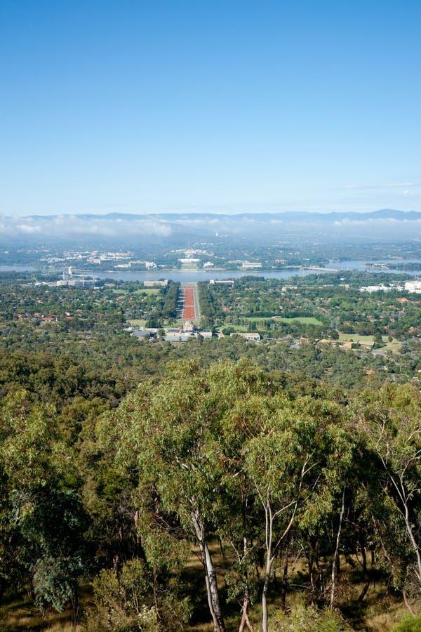 Ansicht von Canberra. lizenzfreies stockbild