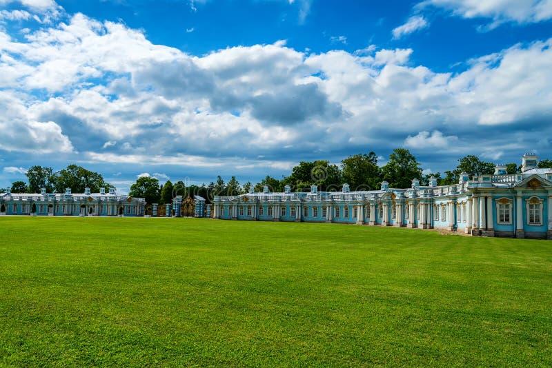 Ansicht von Catherine-` s II Palast in Tsarskoe Selo, Russland stockfotografie