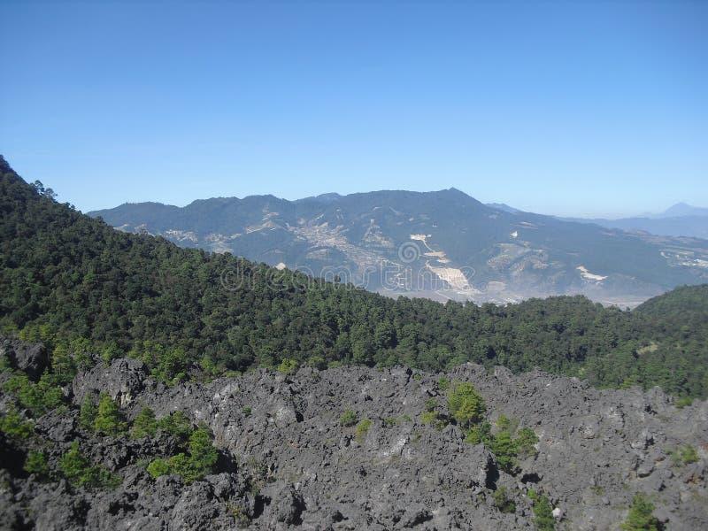 Ansicht von Cerro Siete Orejas von Cerro-La Muela in Quetzaltenango, Guatemala 4 lizenzfreie stockfotos