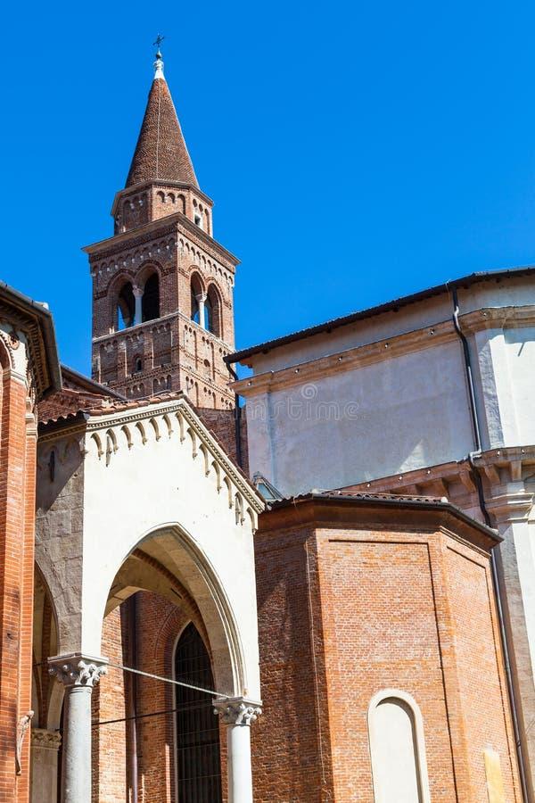 Ansicht von Chiesa-Di Santa Corona in Vicenza-Stadt stockfotos
