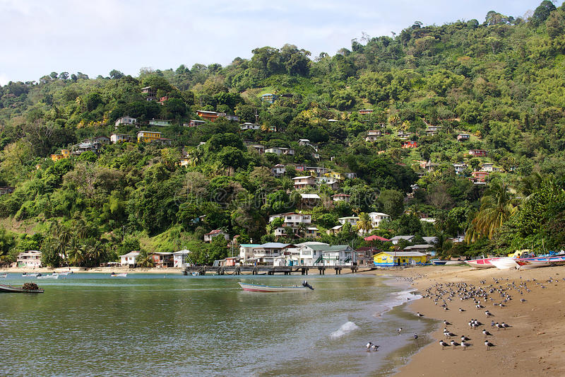 Charlotteville Strand, Tobago lizenzfreie stockfotos