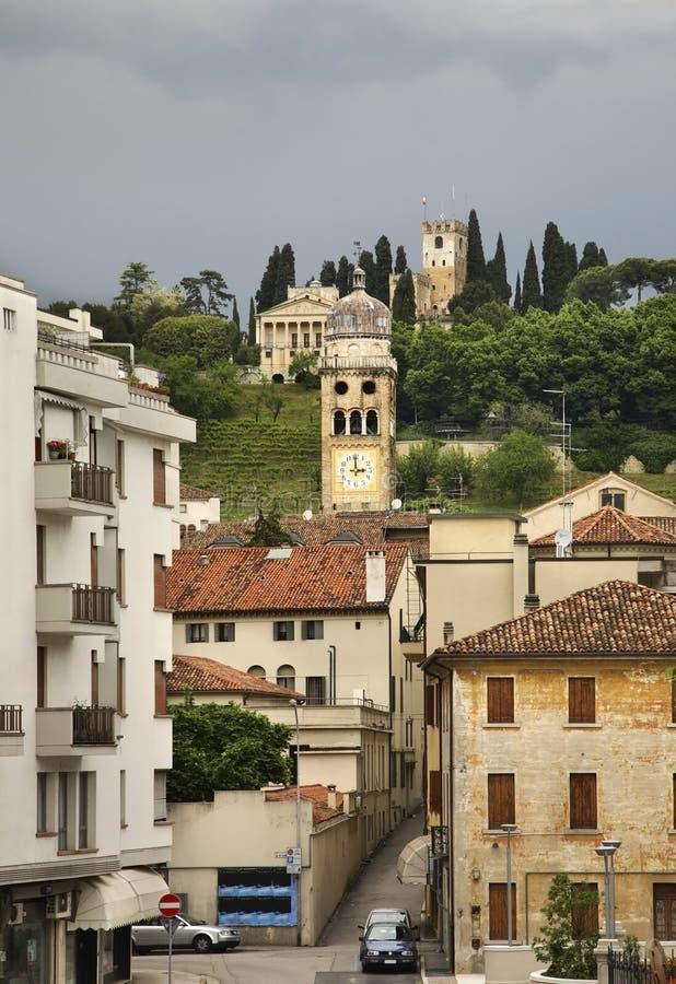 Ansicht von Conegliano-Stadt Italien lizenzfreie stockfotografie