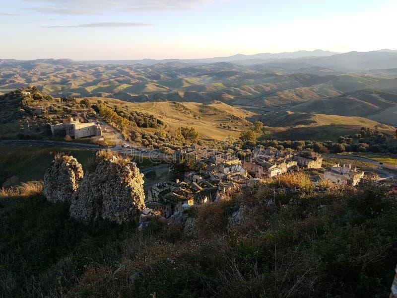 Ansicht von Craco stockfoto