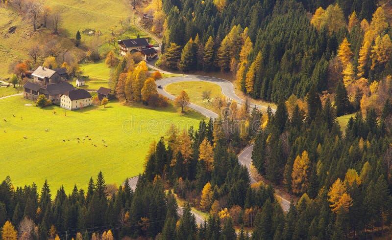 Ansicht von das Mallnitzer Strasse, Österreich stockbilder
