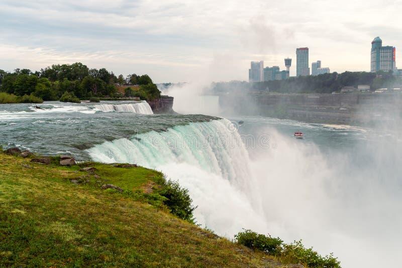Ansicht von den amerikanischen Fällen, Niagara, NY stockbilder