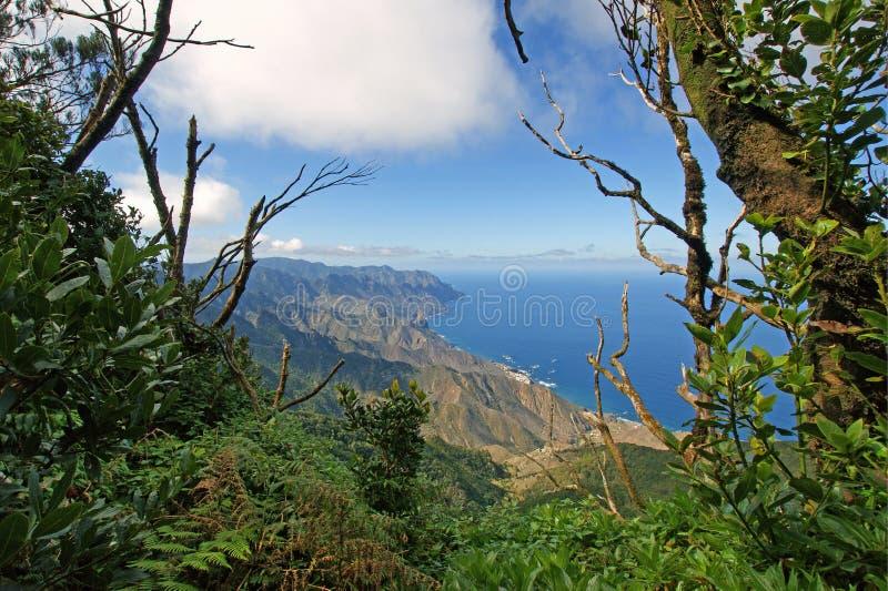 Ansicht von den Anaga-Bergen stockfoto