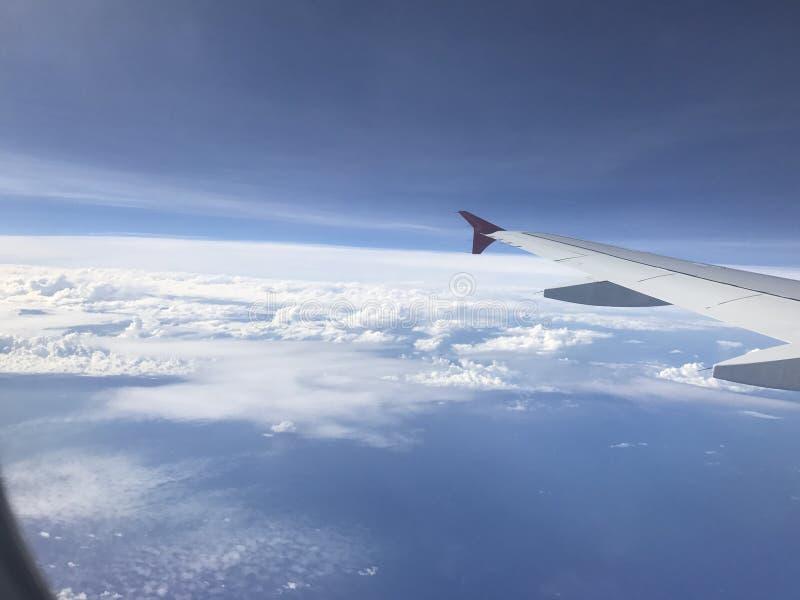 Ansicht von den Flugzeugen lizenzfreies stockfoto