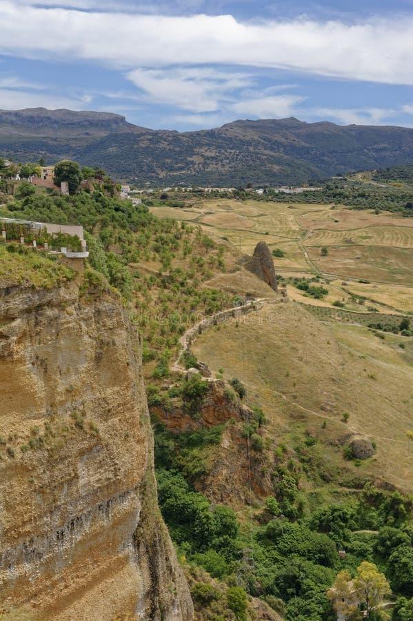 Ansicht von der alten Stadt von Ronda, Màlaga, Andalusien, Spanien stockfotos