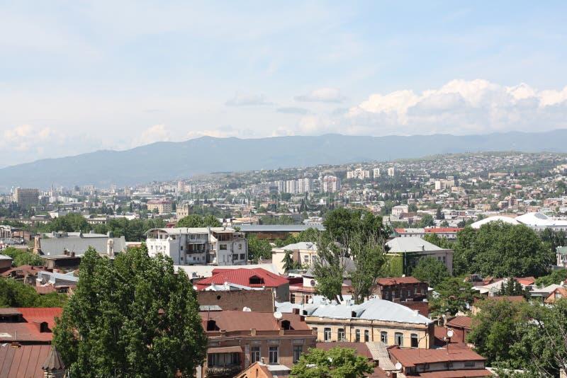 Ansicht von der alten Straße in Tiflis stockfotografie