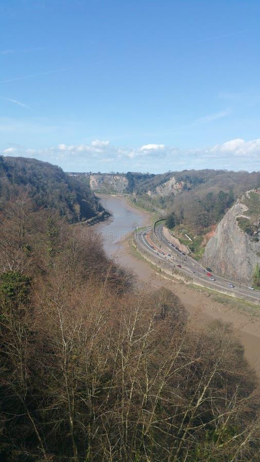Ansicht von der Brücke stockbilder