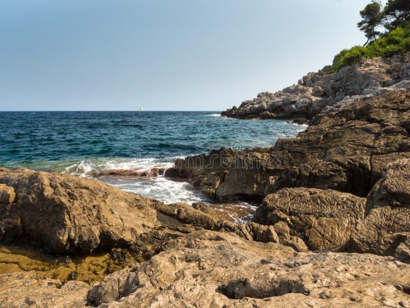 Ansicht von der Bucht von canyamel, Mallorca, die Balearischen Inseln lizenzfreie stockbilder