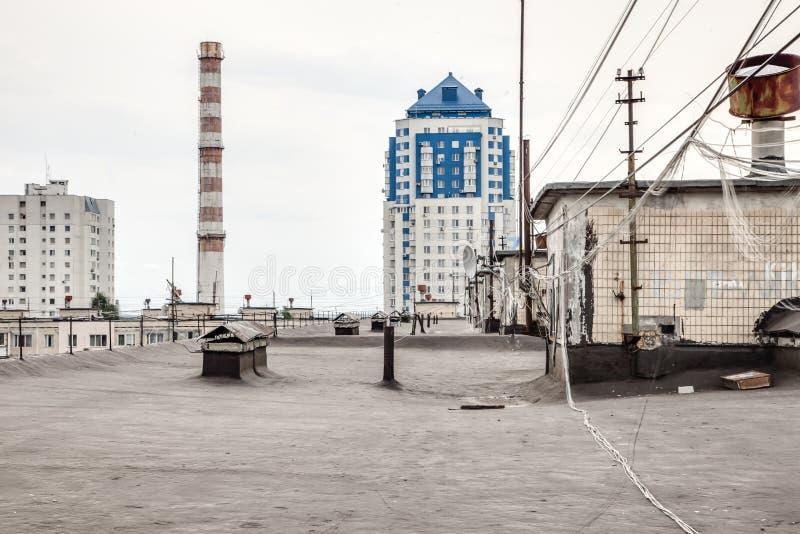 Ansicht von der Dachspitze der Wohngemeinschaft stockbild