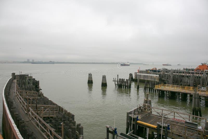 Ansicht von der Fähre zu Staten Island, New York stockfotografie
