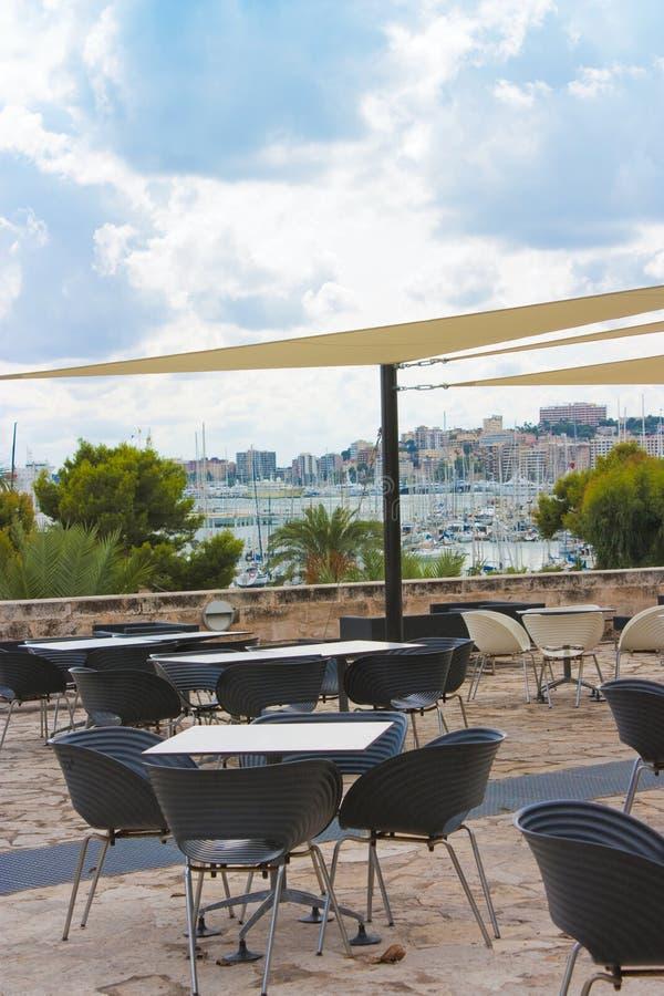 Ansicht von der Gaststätte über palma stockfotografie