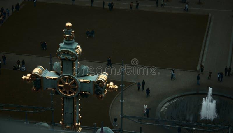 Ansicht von der Spitze der Berlin-Kathedrale stockbilder