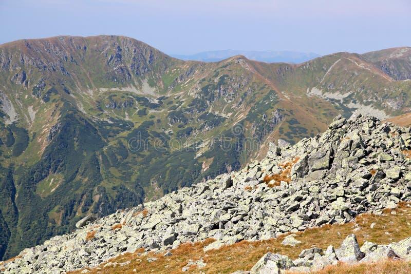 Ansicht von Derese - niedriges Tatras, Slowakei stockfotografie
