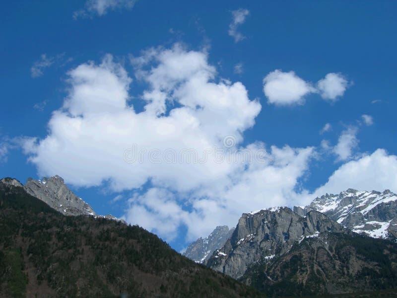 Ansicht von die Schweiz-Alpen stockfoto