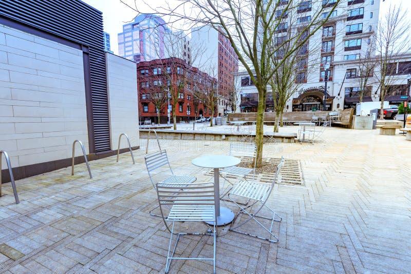 Ansicht von Direktoren Park in im Stadtzentrum gelegenem Portland, Oregon stockfotos