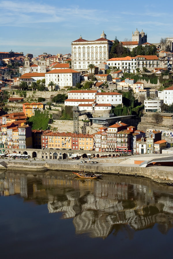 Ansicht von Douro Fluss- Porto lizenzfreie stockfotos