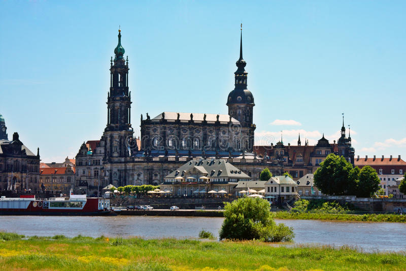 Ansicht von Dresden Deutschland stockfoto