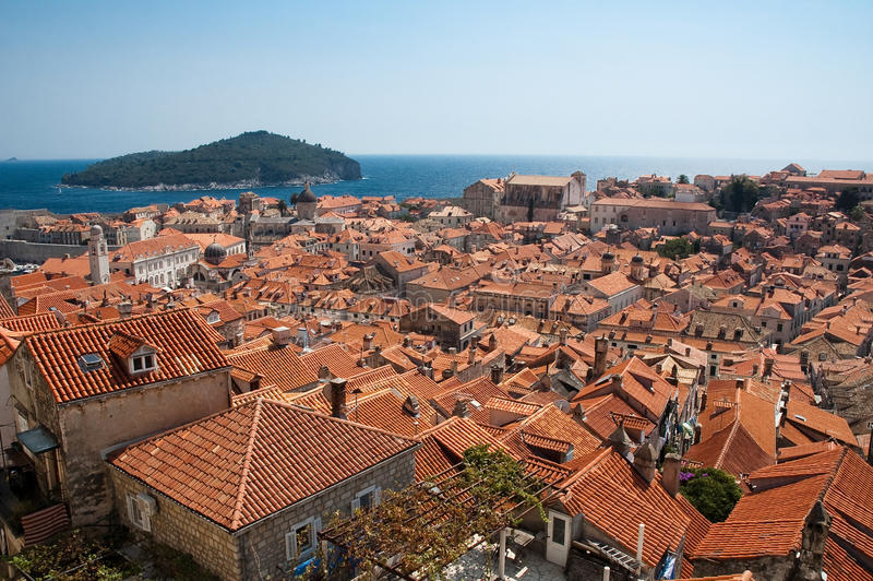 Ansicht von Dubrovnik stockfoto