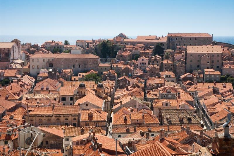 Ansicht von Dubrovnik lizenzfreies stockbild