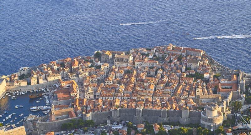 Ansicht von Dubrovnik kroatien stockfoto