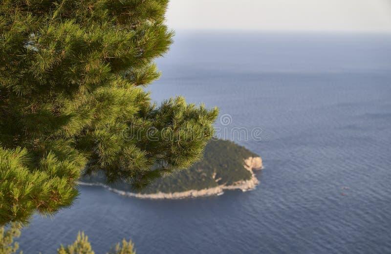 Ansicht von Dubrovnik kroatien stockbilder