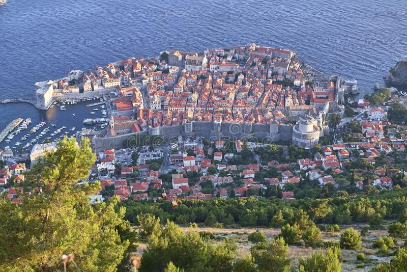 Ansicht von Dubrovnik kroatien lizenzfreie stockfotografie
