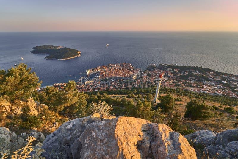 Ansicht von Dubrovnik kroatien stockbild