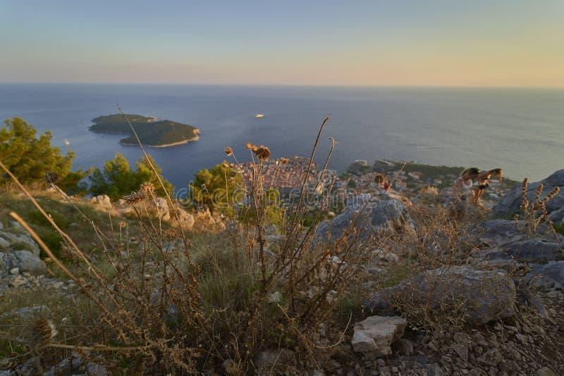 Ansicht von Dubrovnik kroatien lizenzfreie stockfotos